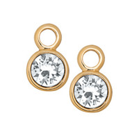 Gold Crystal Earring Drops