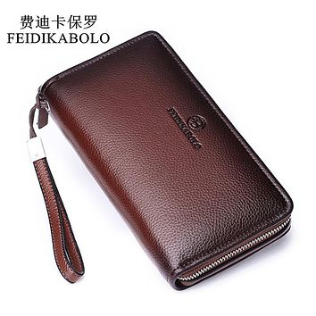 Luxury Male Leather Purse Men's Clutch Wallets Men Brown Dollar Price Handy Bags Business Carter's Wallets