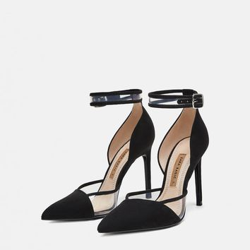 HIGH-HEEL PUMPS WITH ANKLE STRAPDETAILS