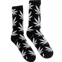 HUF Plant Life Crew Socks (black) Accessories HUFSOC13PLTBLK | PickYourShoes.com