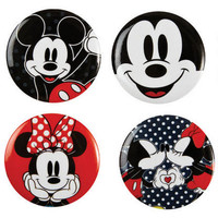 Minnie/Mickey 4-Pack Buttons - Multi