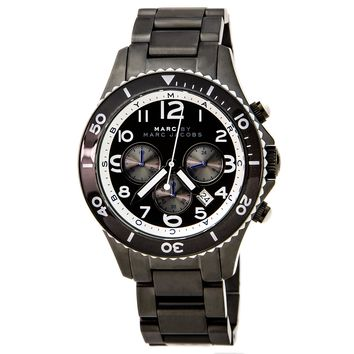 Marc by Marc Jacobs MBM5025 Women's Gunmetal IP Black Dial Chronograph Watch