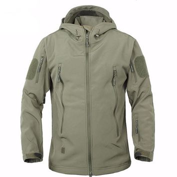 TAD Winter Shark Skin Military Windproof Tactical Softshell Jacket Men Waterproof Army soft shell Coat Windbreaker Rain