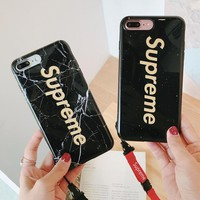 Supreme marble phone case shell  for iphone 6/6s,iphone 6p/6splus,iphone 7/8,iphone 7p/8plus, iphonex