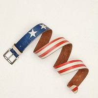 Free People Faded Flag Belt