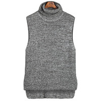 Casual Turtleneck Sleeveless Knitted Sweater