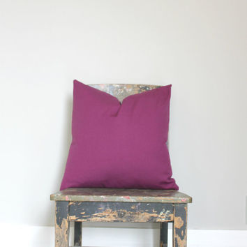 Purple throw pillow cover, purple cushion home decor.