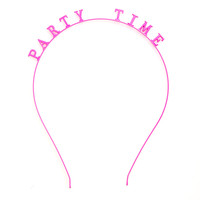 girl talk headband - party time