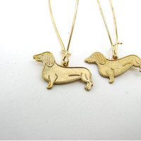 dachshund dog earrings - teeny weenies