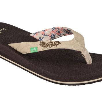 Sanuk Yoga Paradise 2 Natural Paradise Palms Sandals