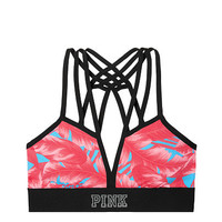 Ultimate Strappy Front Sports Bra - PINK - Victoria's Secret