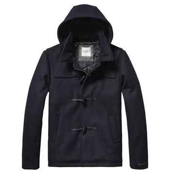 Midnight Strap Duffle Coat