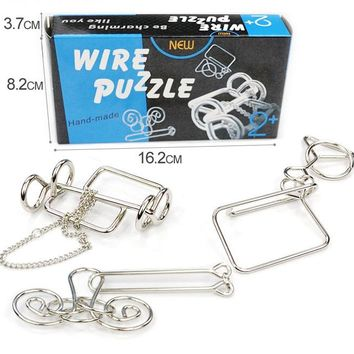 3PCS/Set Intelligence Metal Wire Puzzle Brain Teaser Game for Adults Kids
