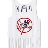 New York Yankees Fringe Racerback Tank
