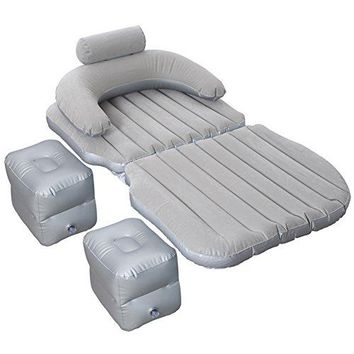 SUV Car Inflatable Mattress Travel Air Bed Off-road Models Backseat Camping Rear Seat Sleeping Mat Cushion Car Shock Bed 13580cm (Color : Gray)