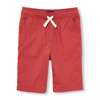 Boys Solid Pull-On Woven Jogger Shorts | The Children's Place
