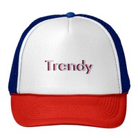 One Word Trendy Three Dimensional Text Design Trucker Hat