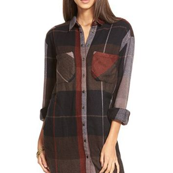 Women's Free People 'Street Talk' Plaid Shirt,