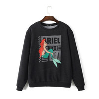 The Little Mermaid Print Sweater