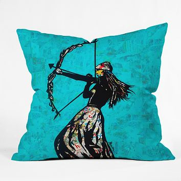 Amy Smith The Archer Throw Pillow