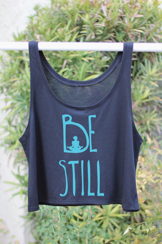 f5658793d092b Be Still - Yoga Gift - Yoga Tank - Flowy from Arima