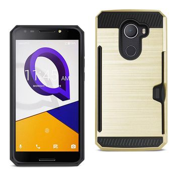 REIKO ALCATEL WALTERS SLIM ARMOR HYBRID CASE WITH CARD HOLDER IN GOLD