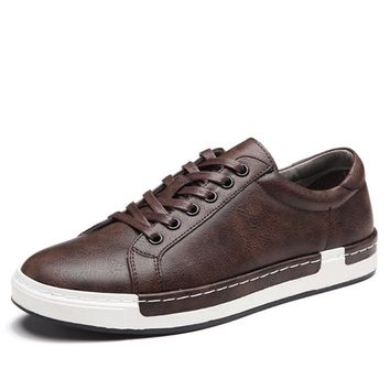 Men sneakers 2018 spring men casual shoes high quality breathable flat shoes mens leather shoes Zapatos Hombre
