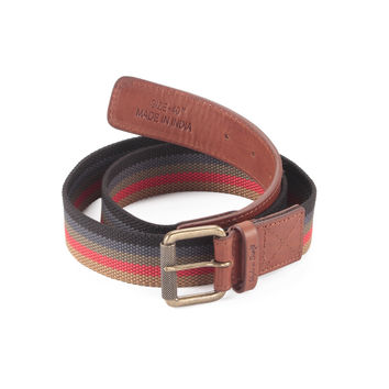 Style n Craft 390190 Leather/Webbing Combination Belt in Brandy Color