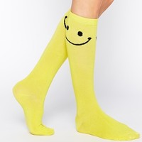 Leg Avenue Happy Face Knee High Socks