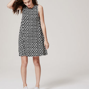 Pinwheel Swing Dress | LOFT