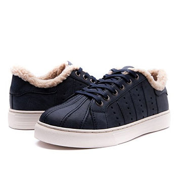 Women's Cold Wether Fur Lining Fashion Sneakers