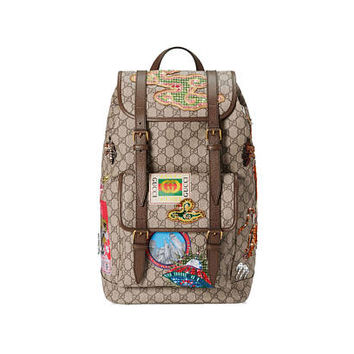 Custom Gucci Courrier backpack, Swarovski Gucci Backpack,Gucci  GG Supreme backpack,Custom Backpack,GG Bags, GG Bedazzled Custom Travel bags