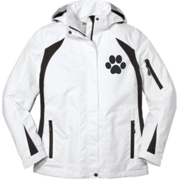 Paw Print Ladies Embroidered Jacket