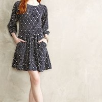 Daisy Dot Dress by Yumi London Blue Motif