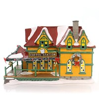 Department 56 House Coffee Station Village Lighted Building