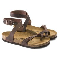 MDIGNW6 Birkenstock Yara Oiled Leather Habana Beach Sandals