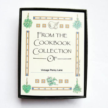 Box of Vintage Bookplates / Book Plates for Cookbooks