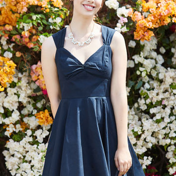 Flare Maiden A-Line Dress in Navy | Mod Retro Vintage Dresses | ModCloth.com