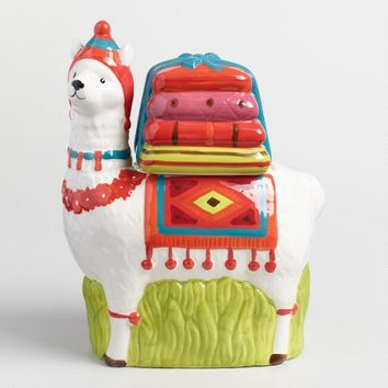 Ceramic Llama Cookie Jar