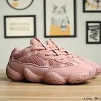 Adidas  Yeezy Boost 500 Pink Casual Running Shoes