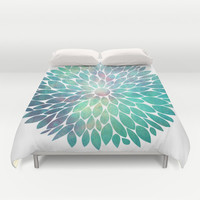 Watercolor Flower Duvet Cover by Digi Treats 2