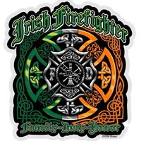 Elite Breed Irish Firefighter Family Duty Honor Decal