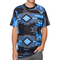 Neff x Mac Miller Tribal Print Sublimated Blue Tee Shirt at Zumiez : PDP