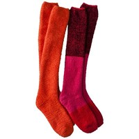 Xhilaration® Juniors 2-Pack Knee High Cozy Socks - Assorted Colors/Patterns