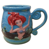 disney parks princess ariel under the sea ceramic coffee mug new
