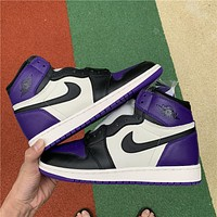 Air Jordan 1 High OG AJ1 Purple/Black Toe