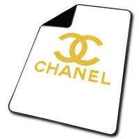 Blank White Gold Chanel Blanket