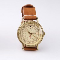 Classic Antique Sailor Lambskin Strap Watch