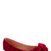 Point Your Bows Flat in Ruby | Mod Retro Vintage Flats | ModCloth.com