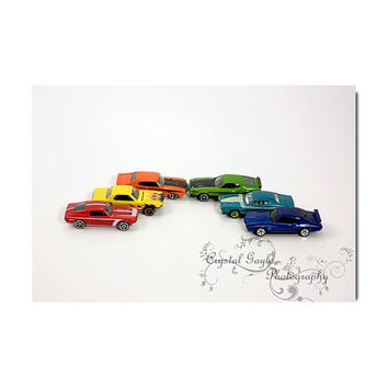 Race Car Boys Childrens Playroom Bedroom Home Decor Wall Art Hot Rods Muscle Cars